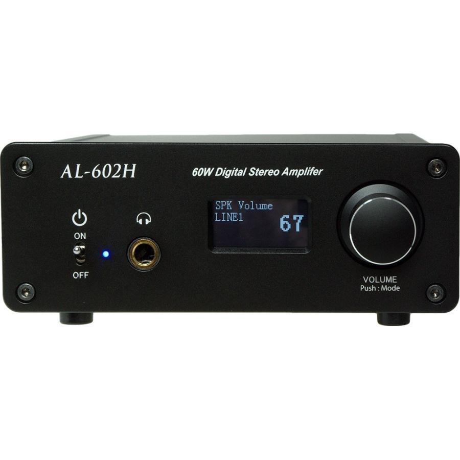 Amulech AL-602H 小型・高音質・Hi-Fi 60W+60W(4Ω)ステレオデジタル・パワーアンプ+ヘッドホンアンプ 電子ボリューム採用|amulech-store|02