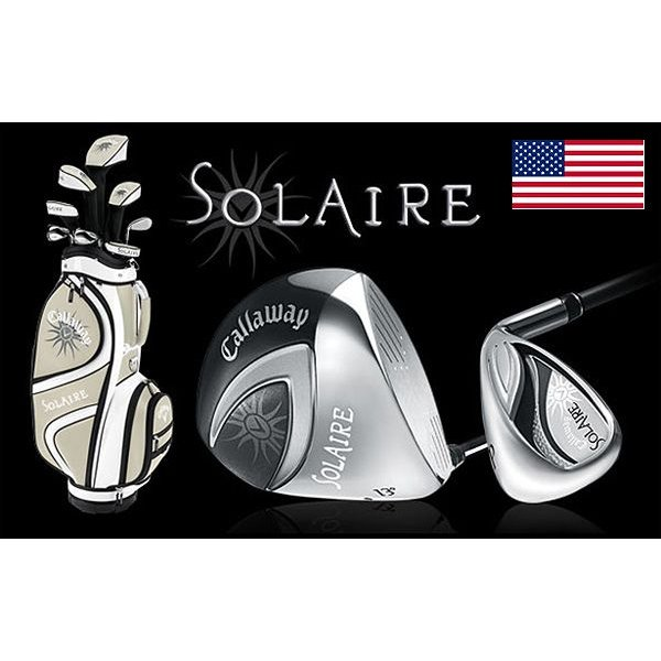 即納 Callaway キャロウェイ SOLAIRE ソレイユ ゴルフクラブ 9Pセット シャンパンゴールド US輸入品 レディース メンズ ブランド 新作