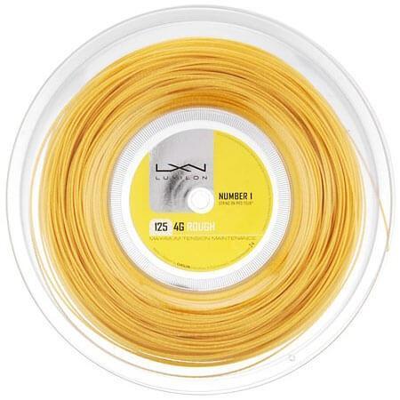 ルキシロン 4G ラフ(1.25mm) 200Mロール WRZ990144硬式テニス ポリエステル ガット(Luxilon 4G Rough 200m String Reel)(16y7m)