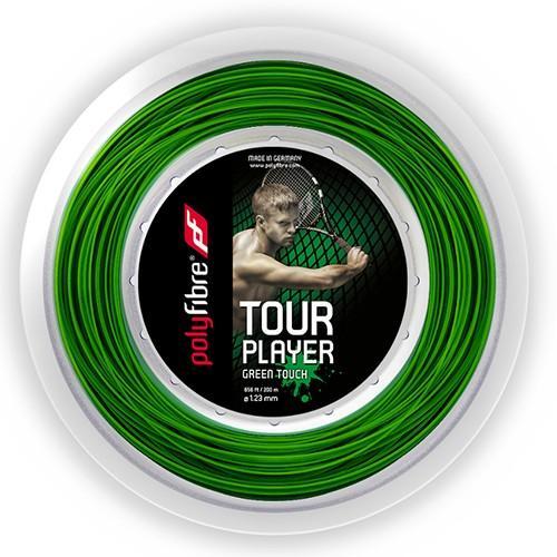 ポリファイバー ツアー プレイヤー グリーンタッチ(1.23mm)200Mロール 硬式テニスガット ポリエステルガット(15y8m)