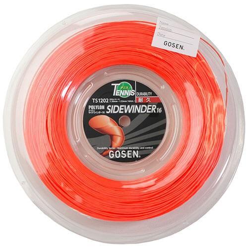 代引き手数料無料 ゴーセン サイドワインダー16【日本名:エッグパワー16】(1.30mm〜1.32mm) 200Mロール 硬式テニスガット ポリエステルガット(GOSEN), 健康fan bd3d5b59