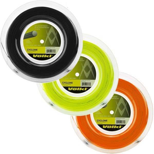 フォルクル サイクロン(1.20mm/1.25mm/1.30mm) 200Mロール 硬式テニス ポリエステルガット(17y5m)