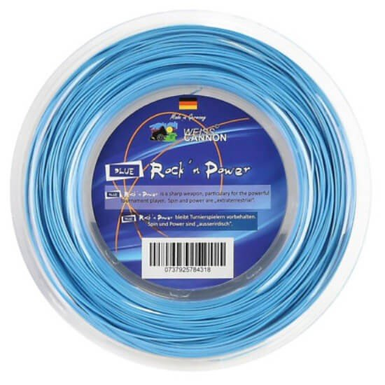 ウエスキャノン(WEISS CANNON) ブルーロックンパワー 17(1.20mm) 200Mロール 硬式テニス ポリエステルガット (19y4m)