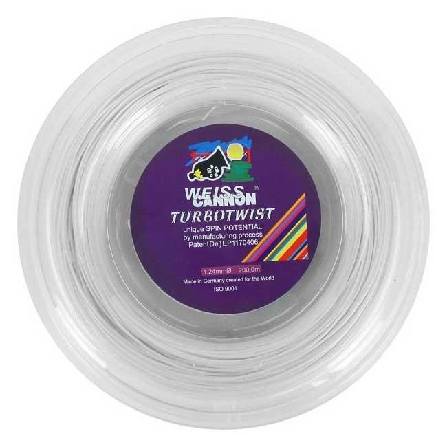 ウエスキャノン(WEISS CANNON) ターボツイスト(1.18mm/1.24mm) 200Mロール 硬式テニス ポリエステルガット(18y1m)