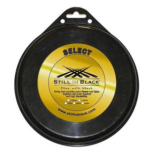 スティル イン ブラック(STILL IN 黒) セレクト(1.25mm/1.30mm)200Mロール 硬式テニス ポリエステル ガット SELECT
