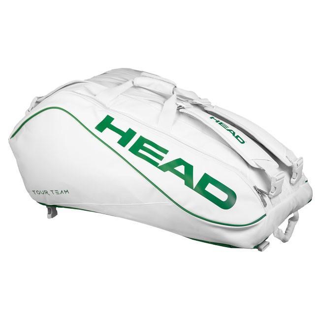 [ウインブルドン限定モデル][12本収納]ヘッド(HEAD) ツアー チーム 12R モンスターコンビ ラケットバッグ 283388-WHGEホワイト×グリーン(19y7m)