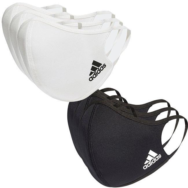 アディダス(adidas) ユニセックス フェイスカバー 3枚組 ウォッシャブルタイプ 洗えるマスク KOH81(20y12m)|amuse37