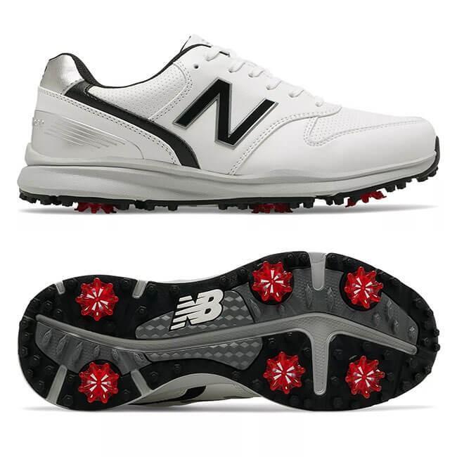 ニューバランス(new balance) メンズ スイーパー ソフトスパイク 2E ゴルフシューズ NBG1800-WKホワイト×ブラック(19y9m)