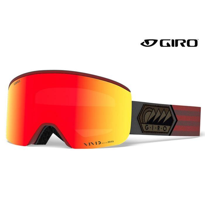 高い素材 ジロ/GIRO スノーゴーグル Axis/Dark Red Sierra 18-19, ムレムラ a2cd41c0