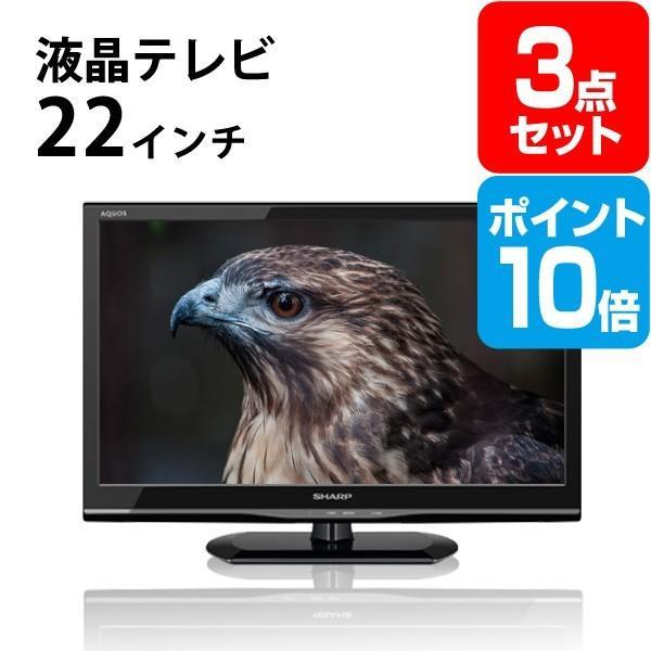 二次会 景品 液晶テレビ22インチ ポイント10倍 景品 セット 3点 目録 A3パネル付