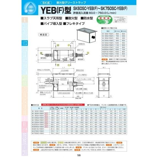 YEB(F)型 SK135SA-YEB(F) Pタイル化粧用蓋SUS304