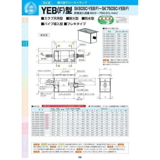 YEB(F)型 SK205SA-YEB(F) SS400亜鉛メッキ