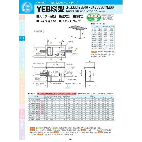 YEB(S)型 SK60SA-YEB(S) モルタル化粧用蓋SUS304