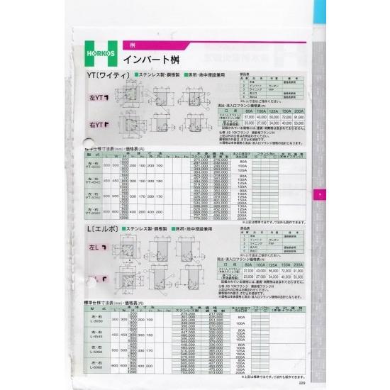 【ホーコス】インバート桝 〔YT〕 左・右 YT-4545 600H ステンレス製