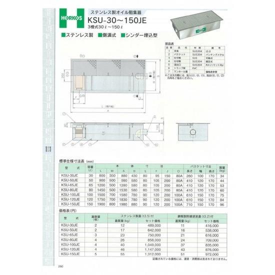 KSU-100JE 100L 鋼板製防錆塗装蓋(t3.2)