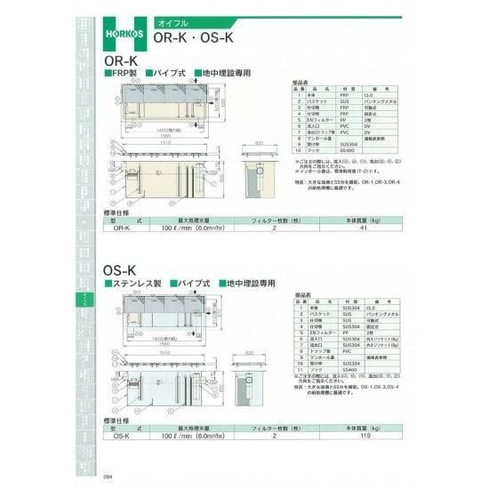 【ホーコス】オイフル OS-K 鋼板製防錆塗装蓋(t3.2)