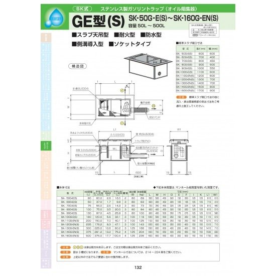 GE型(S) SK-100G-E(S) 耐荷重蓋仕様セット(マンホール枠:ステンレス / 蓋:SS400) T-6