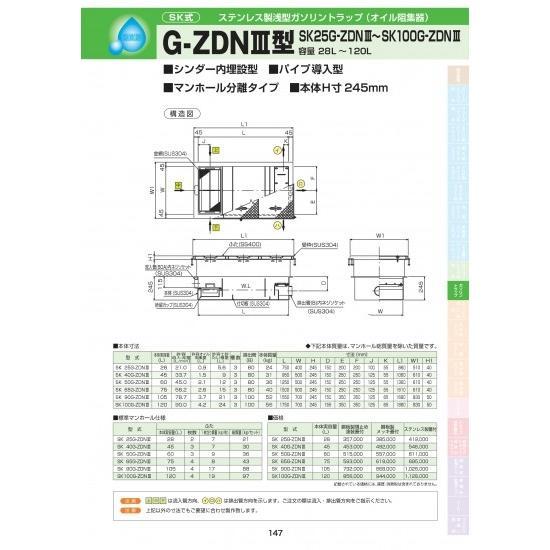 G-ZDNIII型 SK 65G-ZDNIII 鋼板製錆止め塗装蓋付