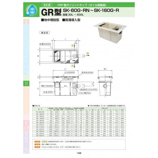 GR型 SK-160G-R 耐荷重蓋仕様セット(マンホール枠:ステンレス / 蓋:溶融亜鉛メッキ) T-20