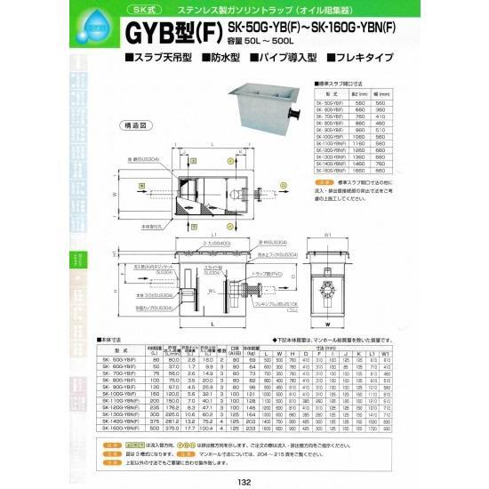 GYB型(F) SK-100G-YB(F) 耐荷重蓋仕様セット(マンホール枠:ステンレス / 蓋:SS400) T-14