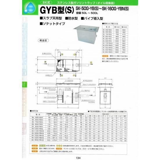 GYB型(S) SK-110G-YB(S) 耐荷重蓋仕様セット(マンホール枠:ステンレス / 蓋:SS400) T-6