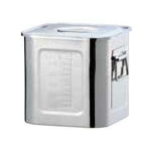 18-8 目盛付深型角キッチンポット 28.5cm(手付)・285×285×H284・22ℓ