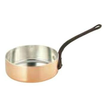 銅極厚 浅型片手鍋(鉄柄) 15cm用(φ150×H60)
