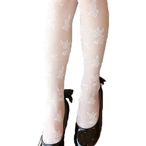 (フォーペンド)Forpend タイツ ストッキング 女の子 子供ドレス用 子ども用フォーマルタイツ 靴下 (ホワイト M)|anarisu