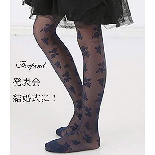 (フォーペンド)Forpend タイツ ストッキング 女の子 子供ドレス用 子ども用フォーマルタイツ 靴下 AC12 (ネイビー S)|anarisu|03