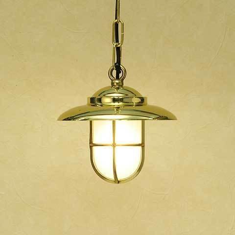 室内 照明 LED マリンライト p2060H くもりガラス インテリア 照明 ペンダントライト 天井照明 真鍮 照明器具 おしゃれ