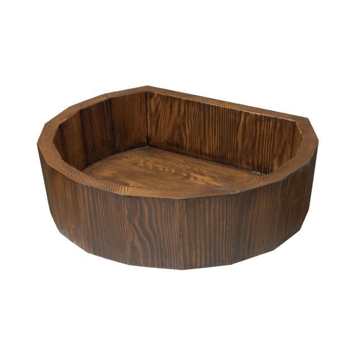 立水栓 パン ガーデンパン 木調水栓パン 手洗い鉢 手洗い鉢 手洗い鉢 立水栓 水栓柱に設置 dad