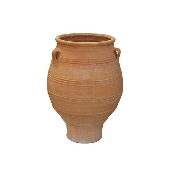 プランター 大型 植木鉢 テラコッタ 鉢 陶器鉢 アンティーク 風 クレタ ピサーリ 直径70×高さ100×底面直径38 深型 円形 素焼き鉢 送料無料