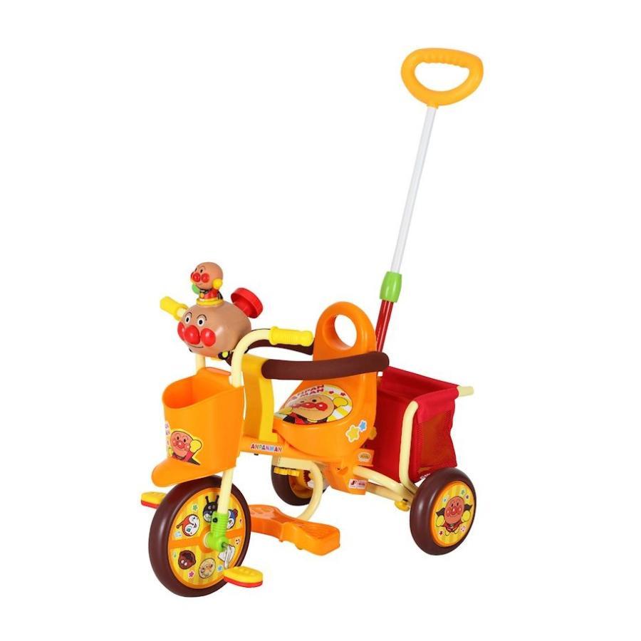 三輪車 わくわくアンパンマンごうピースII オレンジ