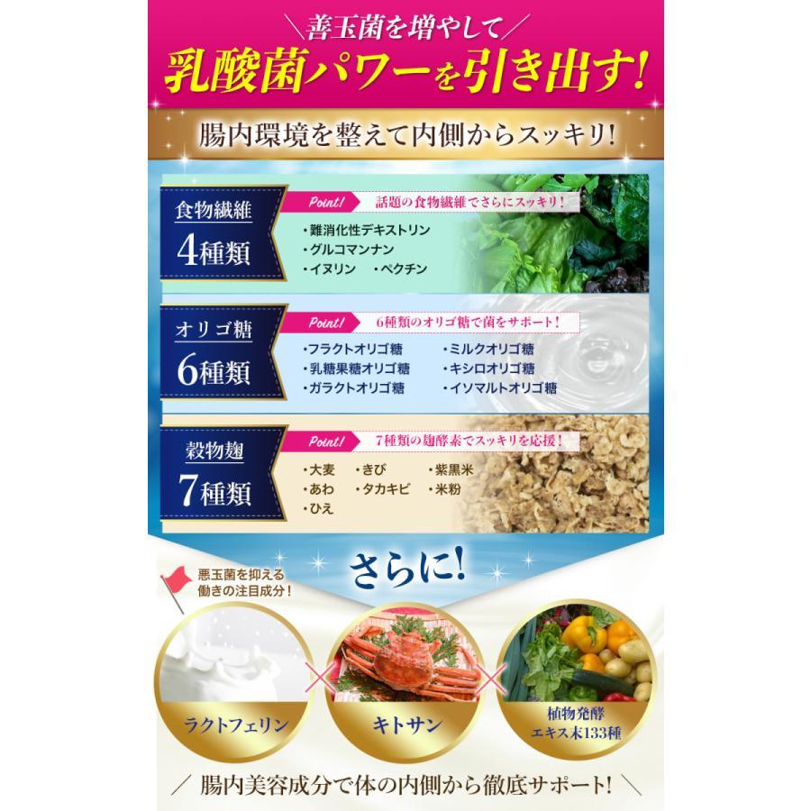 27種6兆個 乳酸菌配合 腸活 サプリメント リッチな菌たち ダイエット 酪酸菌 コンブチャ 穀物麹 オリゴ糖 キトサン ラクトフェリン 痩せ菌 日本製|ange-selectshop1|06