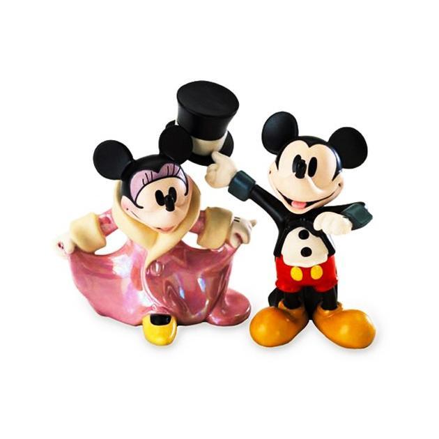 WDCC ディズニー ミッキーマウス トップ帽子とおさげ髪のフィギュア 置き物