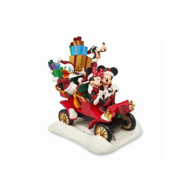 アメリカ限定 ディズニーストア サンタミッキーマウスと友人のカーフィギュア fig-750905.jpg