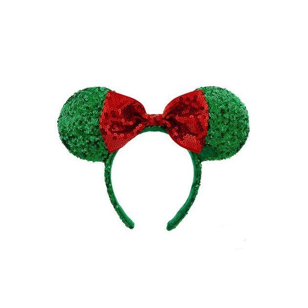 ディズニーパークUS 耳ヘッドバンド ミニーマウス クリスマス緑 HatsHB-3116-227
