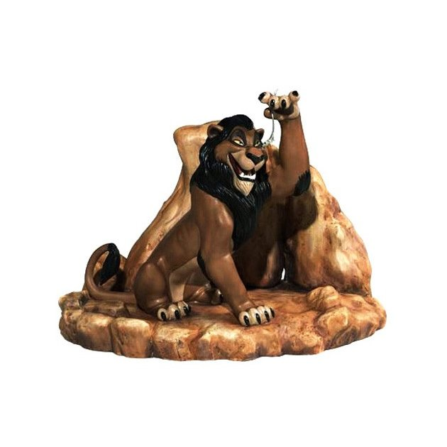ディズニー WDCC ライオンキング 暮らしは公平でありませんねフィギュア 置き物