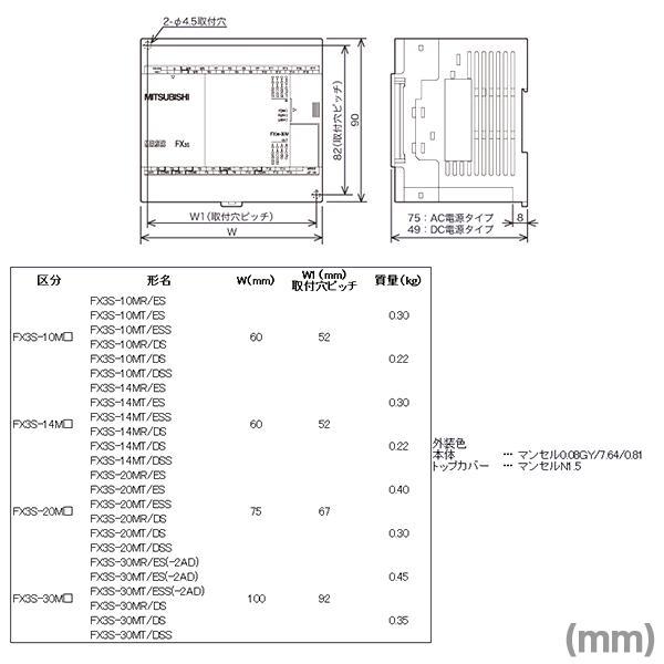 Mitsubishi FX3S 14MR//ES PLC