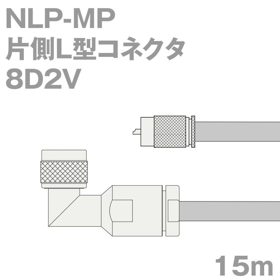 同軸ケーブル8D2V NLP-MP (MP-NLP) 15m (インピーダンス:50Ω) 8D-2V加工製作品TV
