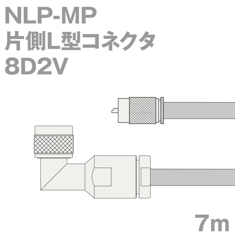 同軸ケーブル8D2V 同軸ケーブル8D2V 同軸ケーブル8D2V NLP-MP (MP-NLP) 7m (インピーダンス:50Ω) 8D-2V加工製作品TV c0b