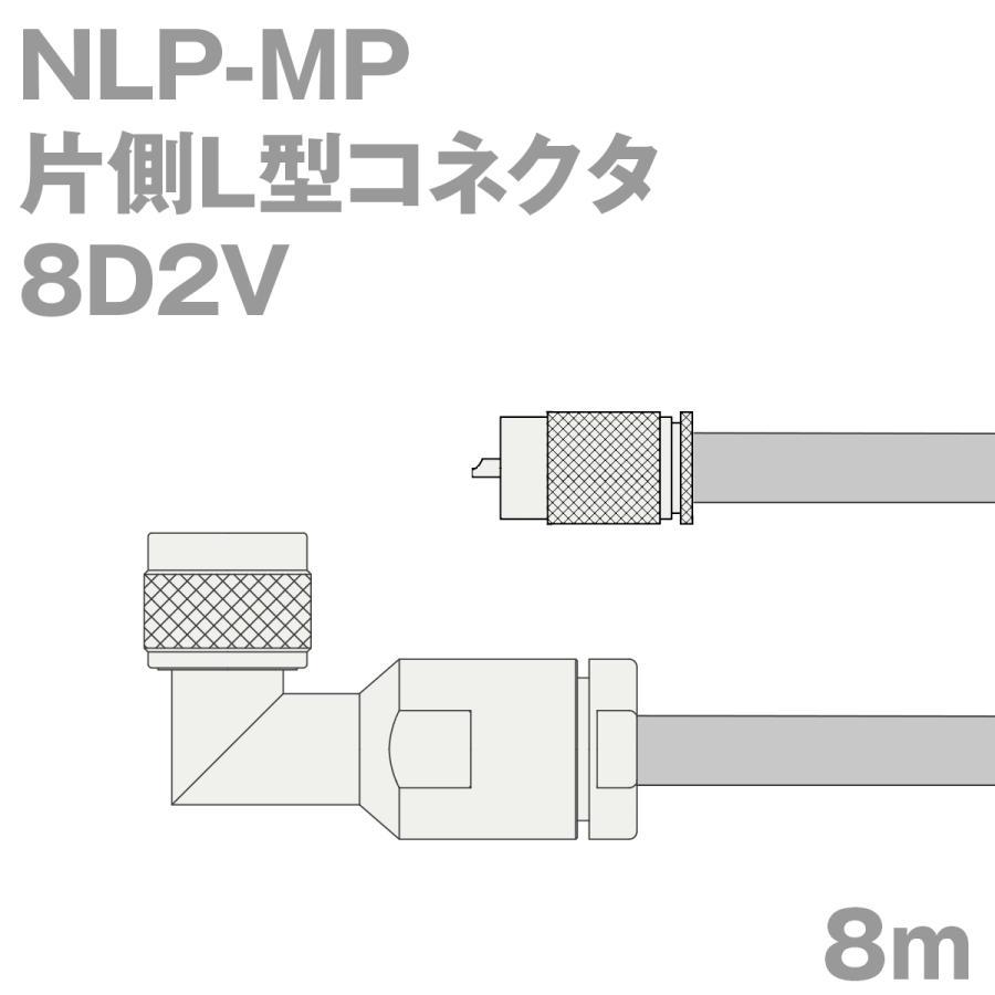 同軸ケーブル8D2V NLP-MP (MP-NLP) (MP-NLP) (MP-NLP) 8m (インピーダンス:50Ω) 8D-2V加工製作品TV 1fc
