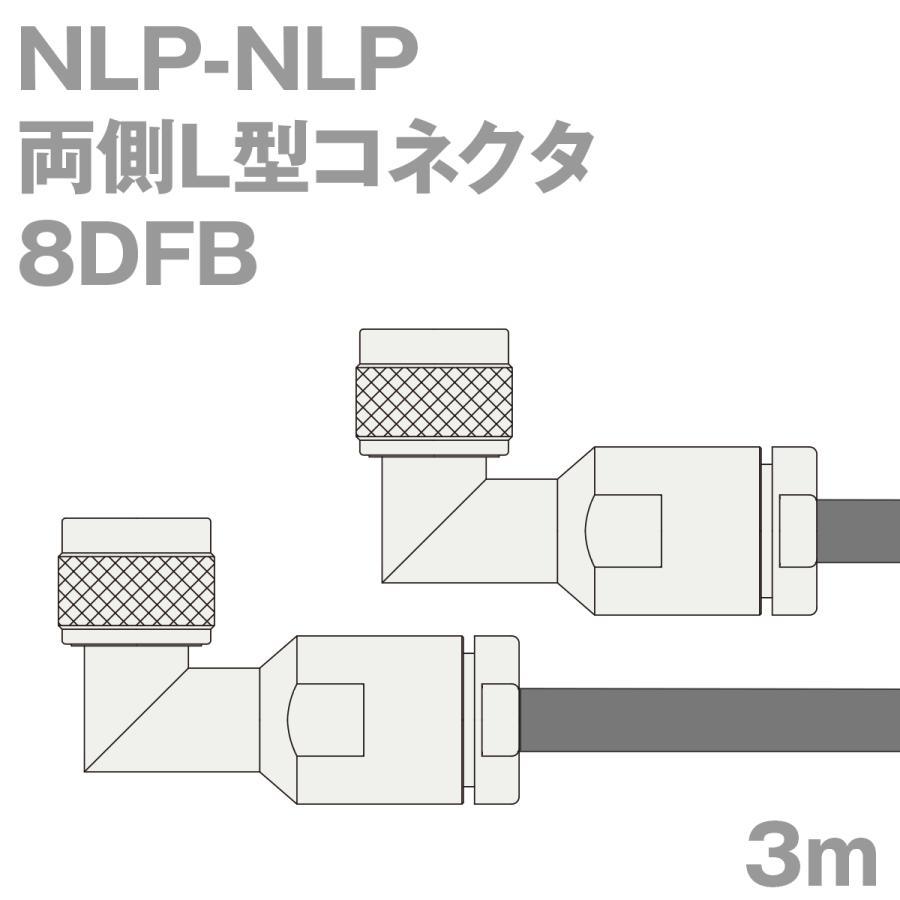 同軸ケーブル8DFB NLP-NLP 3m 3m 3m (インピーダンス:50Ω) 8D-FB加工製作品TV 47d