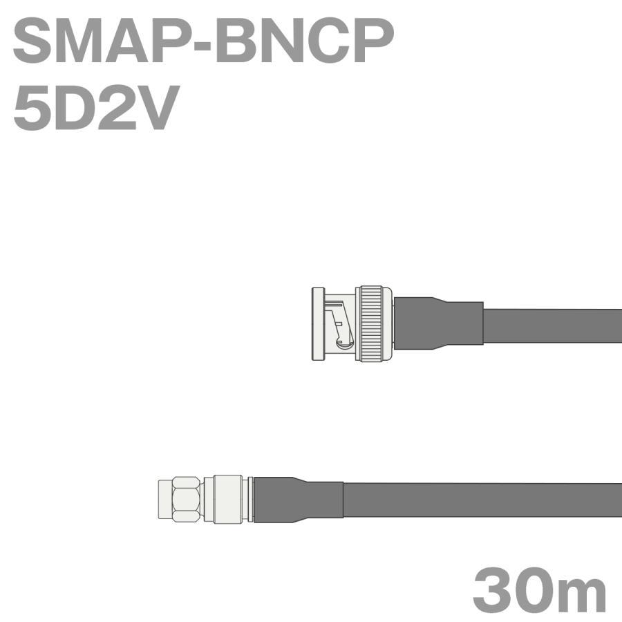 同軸ケーブル5D2V SMAP-BNCP SMAP-BNCP SMAP-BNCP (BNCP-SMAP) 30m (インピーダンス:50Ω) 5D-2V加工製作品TV b05