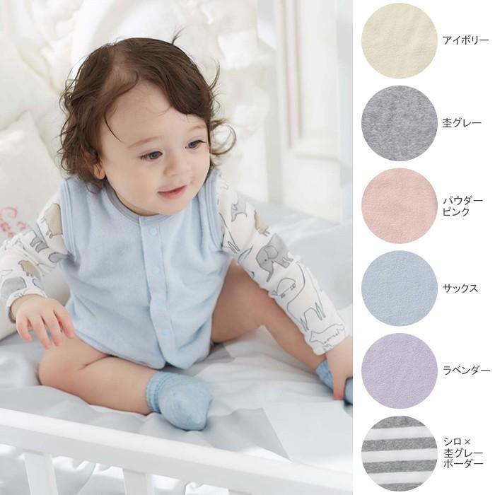 ベビー 当店限定販売 服 日本製 ANGELIEBEオリジナルシンカーパイルベスト 赤ちゃん ベビー服 出産準備 女の子 おんなのこ 一部予約 おとこのこ 男の子