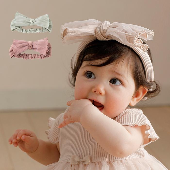 品質検査済 ベビー服 価格交渉OK送料無料 coto cotte チュール ヘアバンド 赤ちゃん ベビー用品 おんなのこ 女の子 発表会 ヘアアクセサリー リボン 半袖 髪飾り