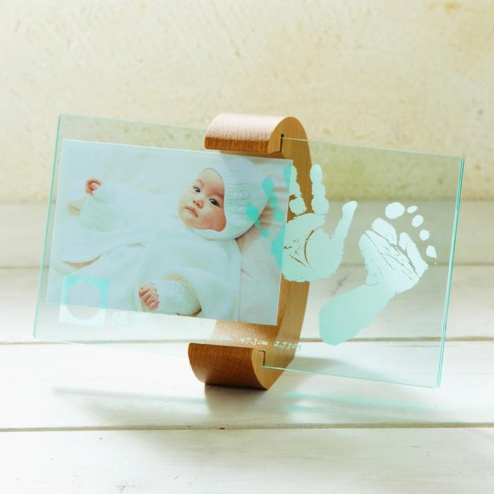 ベビー ちあき工房 ムーンフォトスタンド 入荷予定 赤ちゃん メモリアル メモリー 記念品 手形 内祝い フォトフレーム 写真入れ ギフト 足型 与え
