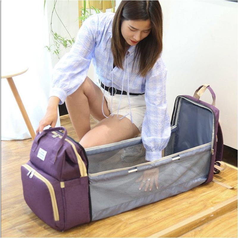 ベビーベッド バッグ 折り畳み式 ベビー用 赤ちゃん ベビー連れの旅行 外出などに 多機能型 コンパクト 携帯式 持ち運び便利 出産祝い 遠足 旅用 便利グッズ|angellove-store|11