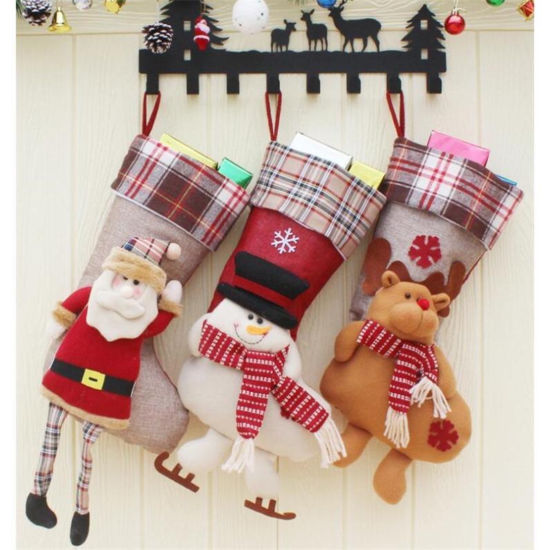 クリスマスブーツ プレゼント袋 サンタ トナカイ ラッピング 雪だるま 3種 お菓子袋 ソックス 靴下 キャンディ入れ ギフトバッグ|angelmimi|02