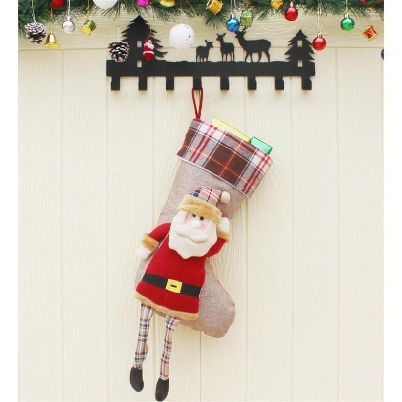 クリスマスブーツ プレゼント袋 サンタ トナカイ ラッピング 雪だるま 3種 お菓子袋 ソックス 靴下 キャンディ入れ ギフトバッグ|angelmimi|03